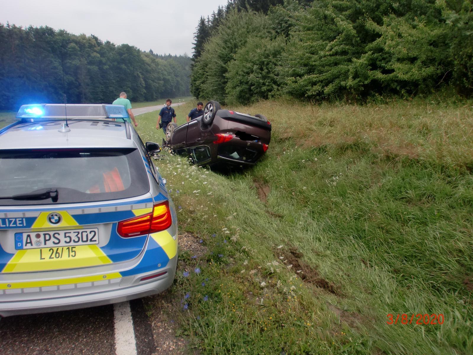 Einsatz am 03.08.2020: Verkehrsunfall auf der Kreisstraße DLG 33.