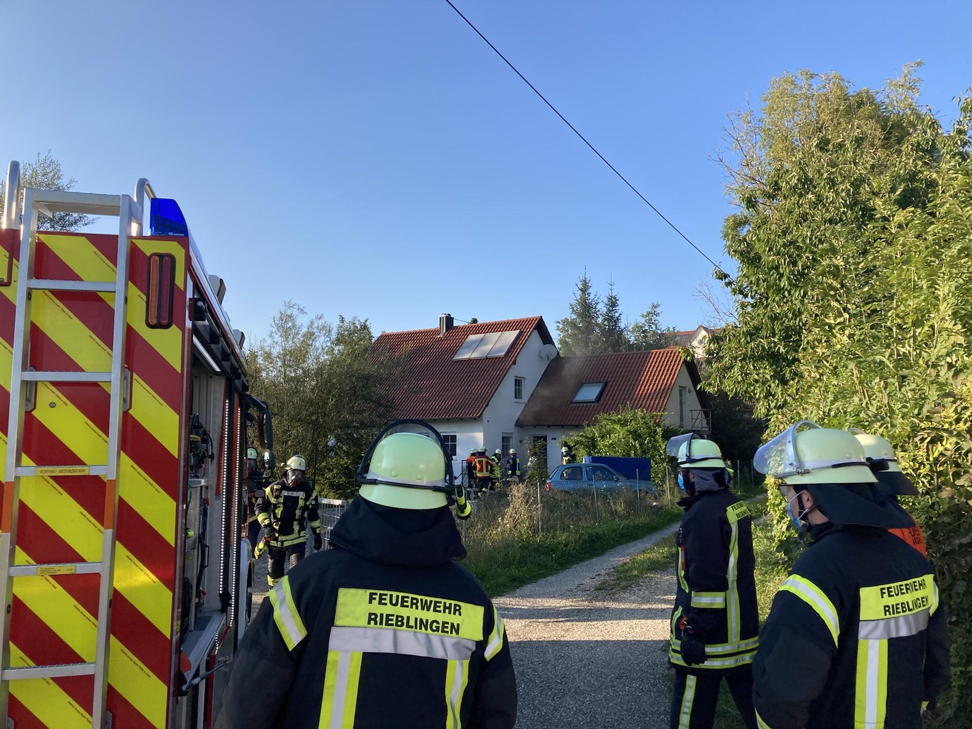 Brandeinsatz: Kellerbrand in Rieblingen, Mähderweg