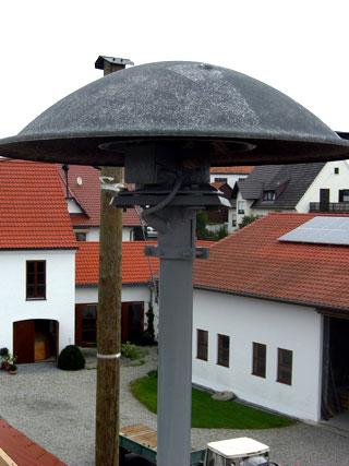 Die Sirene auf dem Dach des Rieblinger Feuerwehrhauses